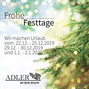 Frohe Festtage Adler Kornwestheim