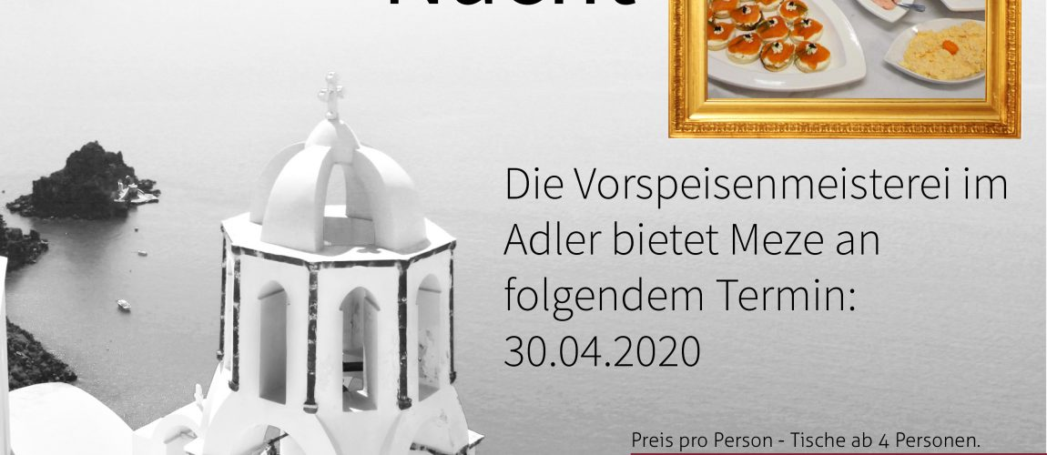 Griechische Nacht 2020-04-30 im Restaurant Adler Kornwestheim